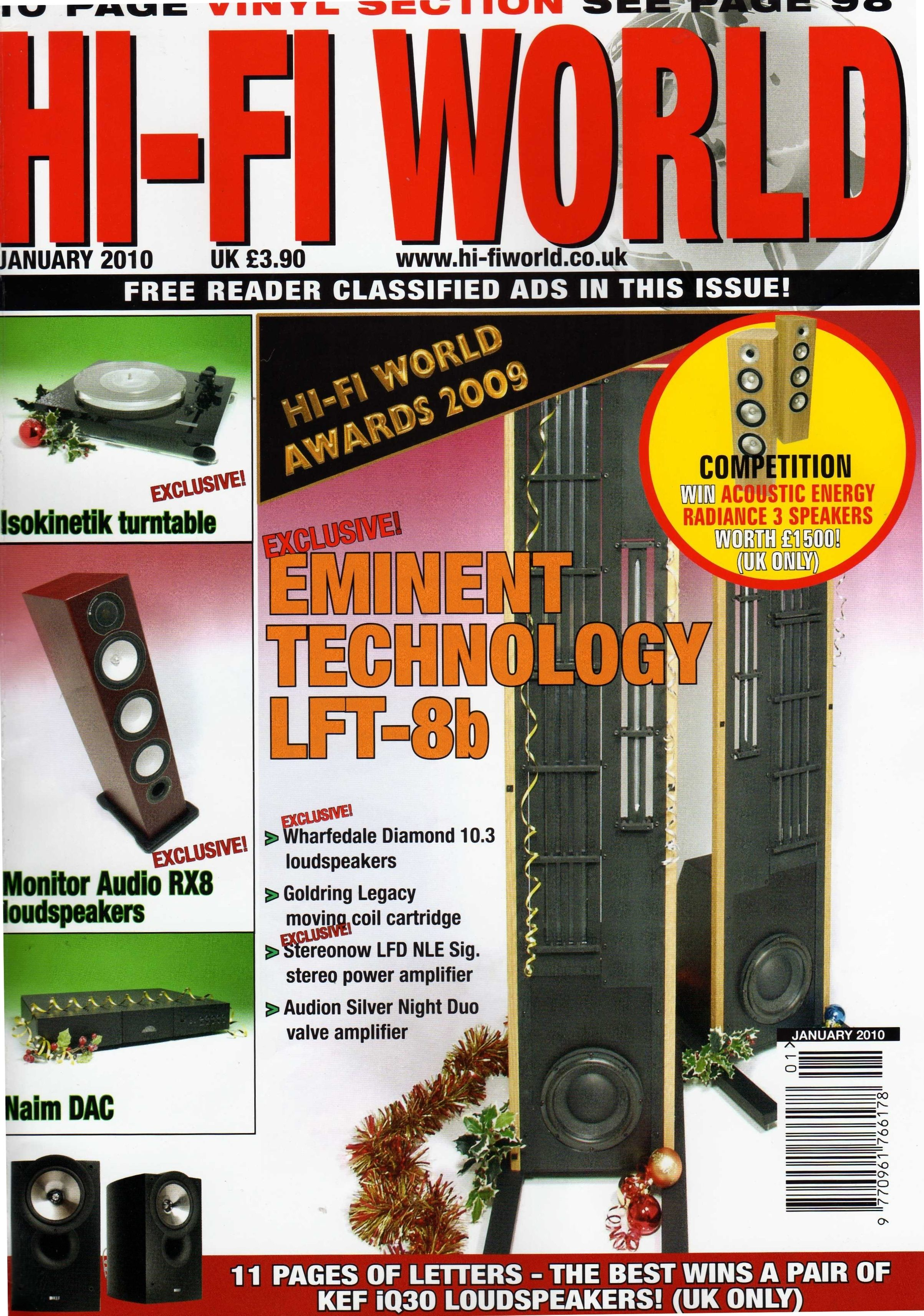 The LFT-8b makes the cover of Hi-Fi World Magazine and
